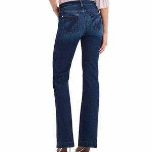 7FAM Dojo Dark Wash Trouser Style Jeans